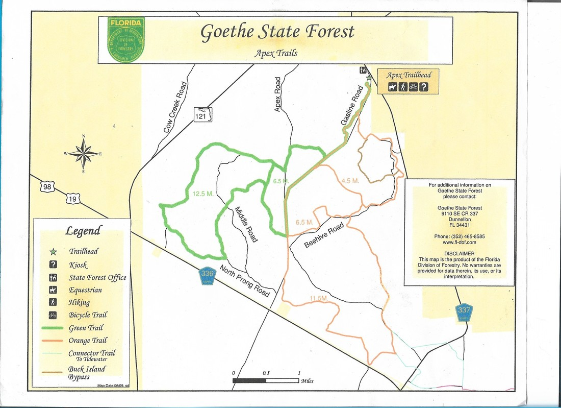 Maps and Rules - Goethe Trailhead Campground, Dunnellon Florida Dunnellon Fl Map on